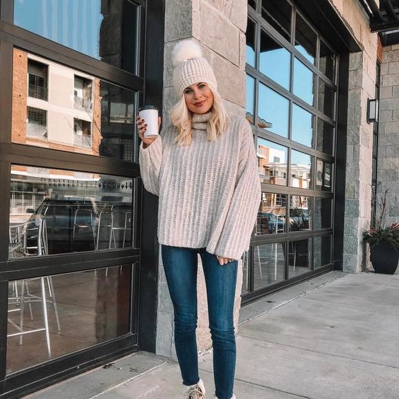 e10a56f6da763a Free People Sweaters - Free People Fluffy Fox Turtleneck Sweater